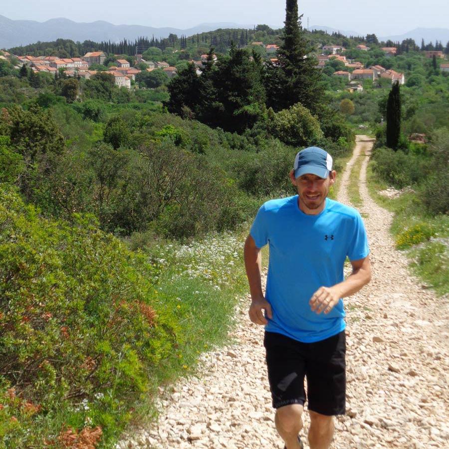 trail running korcula island