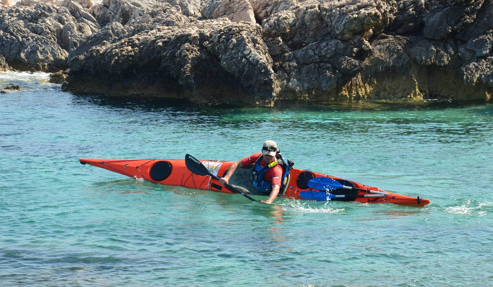 Kayak training with Dimitri Vandepoele