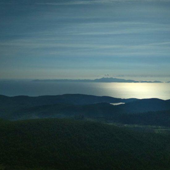 view form kom peak on korcula island