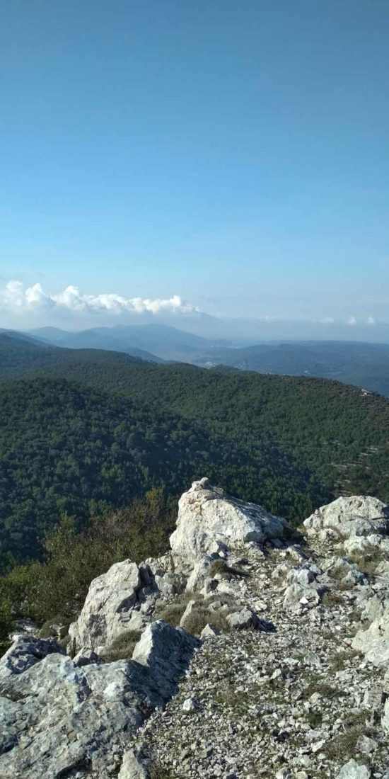 view form kom peak on korcula island