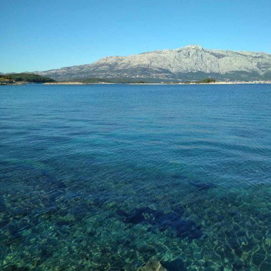 view on Peljesac peninsula